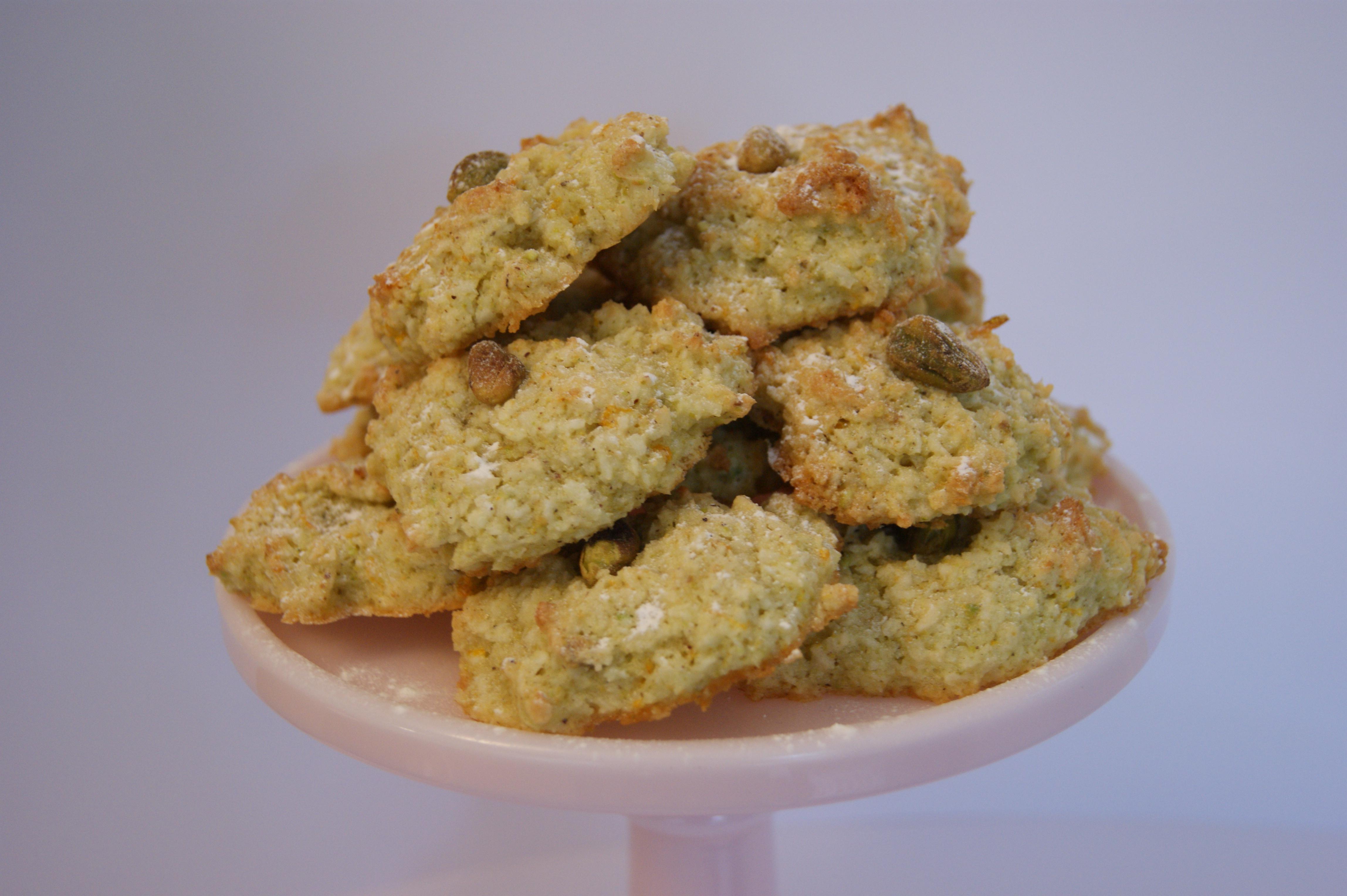 Pistachio, Rose & Orange Coconut Macaroons | Diet starts tomorrow...